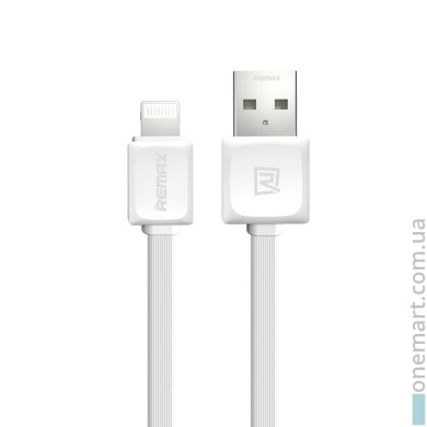 Кабель Remax USB - Lightning (1 м, белый)