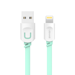 Кабель USAMS USB - Lightning (0.25 м, зелёный)